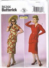 Vtg 40s Retro Shirred Peplum Dress Belt Sewing Pattern Plus Sz 14 16 18 20 22