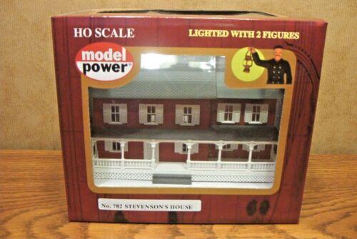 MODEL POWER//MRC STEVENSON/'S HOUSE BUILT-UP HO SCALE BUILDING LIGHTED