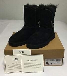 UGG Australia Meadow boots in black suede.