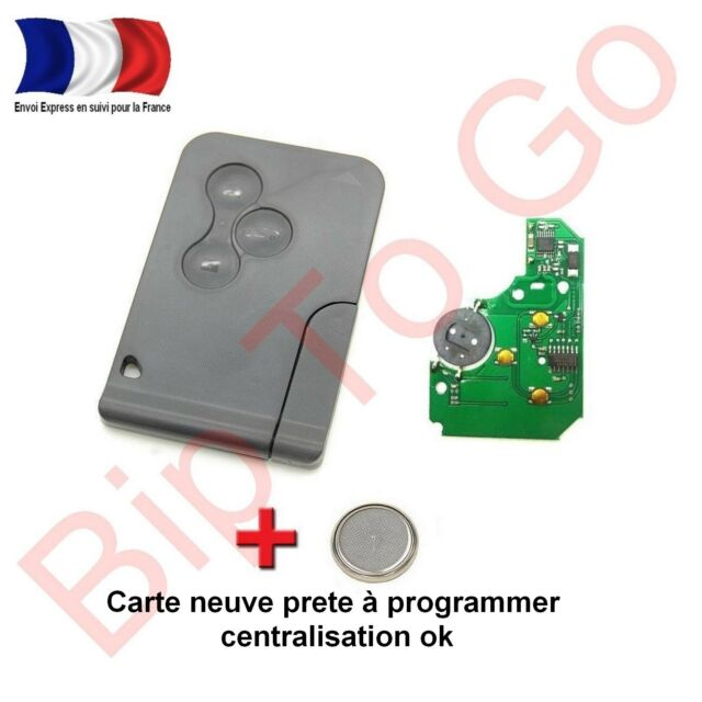 Key Card With Electronic Virgin Programmer Megane 2, Clio