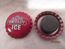 SMIRNOFF ICE VODKA (LIQUOR) BOTTLE CAP REFRIGERATOR MAGNETS (2)