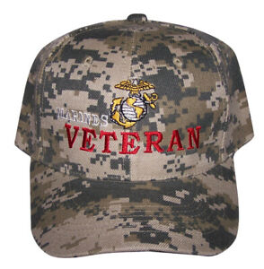 edb3f3fb177 Image is loading USMC-US-Marines-Veteran-Military-Baseball-Caps-Hats-