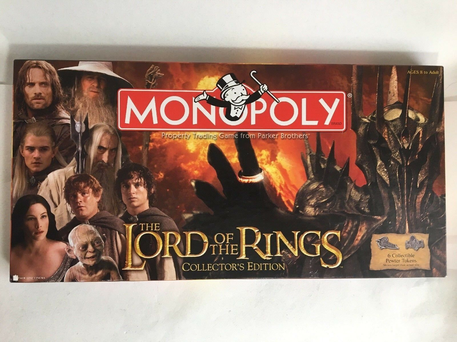 Monopoly  Lord Of The Rings Collector's edizione 2005 Hasbro Opened But completare  100% nuovo di zecca con qualità originale