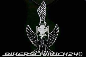 Adler-Anhaenger-mit-Eisernem-Kreuz-3D-Schmuckanhaenger-Edelstahl-Lederband