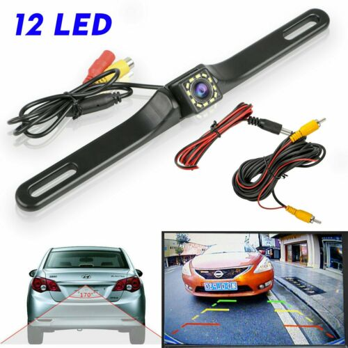 Car License Plate Reversing Parking Backup Camera Rearview Kit Night Vision