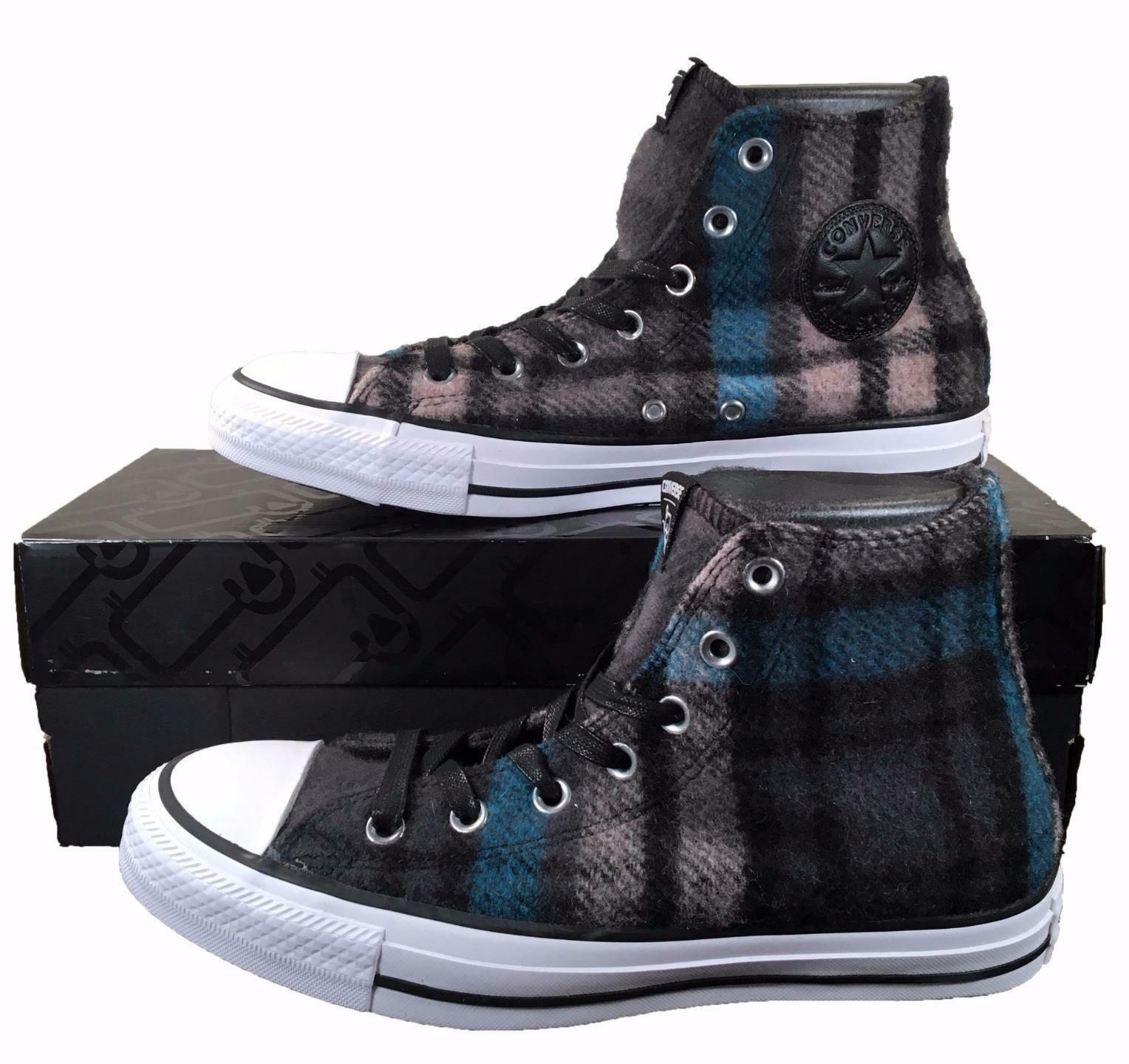 Converse by Woolrich Chuck Taylor All Star Sneakers bluee Black Plaid Wool 149455