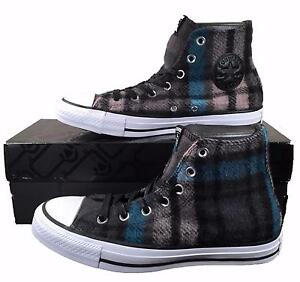 Converse Woolrich Dark Plaid Hi Top Sneakers