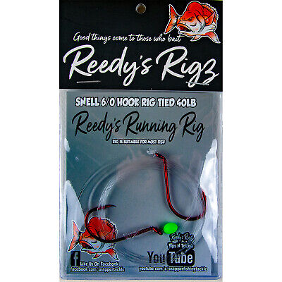 10 Snapper Rigs Bait Fishing Rigs Summer Reds Hand tied Leader Circle Hook