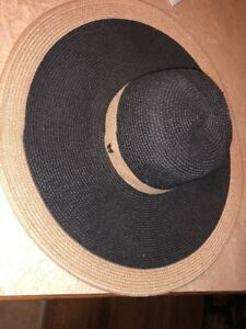Magid Hats Wide Brim Floppy Hat Magid Straw Black   Tan Sun ... 1639b4c09d1
