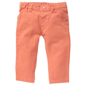 Baby-Girls-New-With-Tags-Coral-Fusion-Orange-Stretch-Jeans-Pants-Size-3-18-Mths