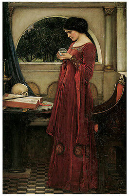 Waterhouse - The Crystal Ball (1902) Art Canvas/Poster Print A3/A2/A1