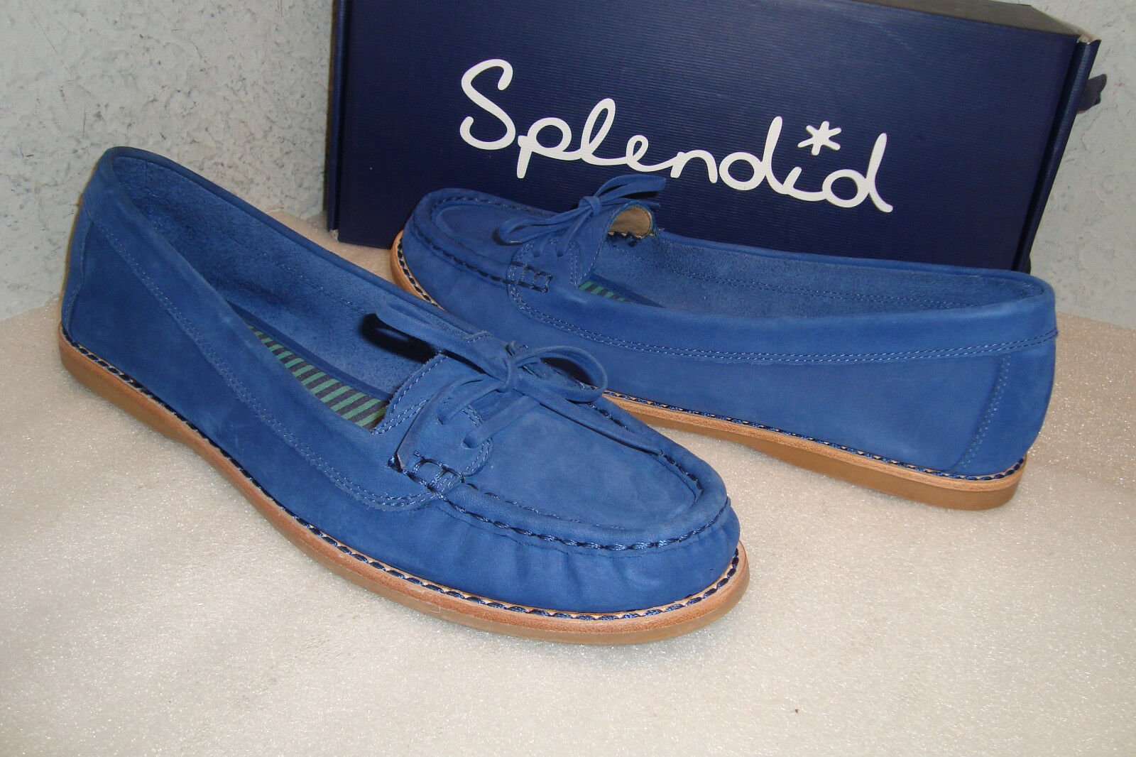 Splendid Footwear Damenschuhe NWB Breakwater Blau Casual Flats Schuhes 8 M NEU Leder