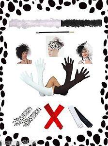Cruella-De-Ville-Lot-Fancy-Dress-Costume-101-Dalmatians-Dalmation-Accessory-New