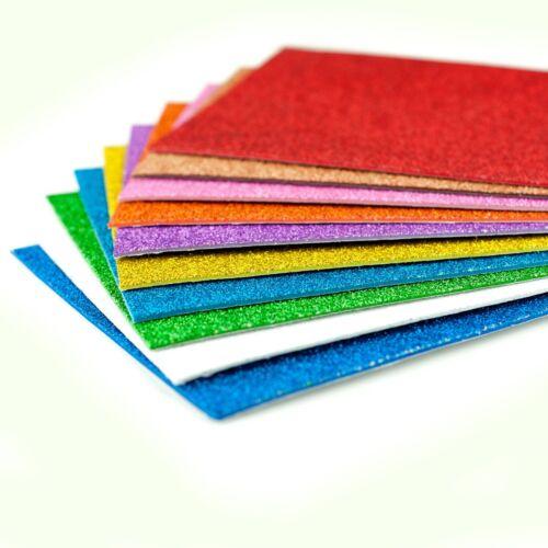 Hojas de espuma Brillo A5 auto adhesivo para manualidades y elaboración de Tarjetas-Paquete de 10.