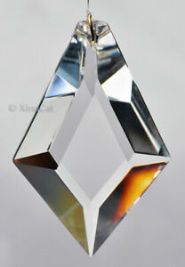 Huge-Faceted-KITE-76mm-Crystal-Clear-Prism-SunCatcher-3-034-Feng-Shui