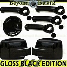 For 2007-2012 DODGE NITRO GLOSSY BLACK Door Handle COVERS Mirror Covers