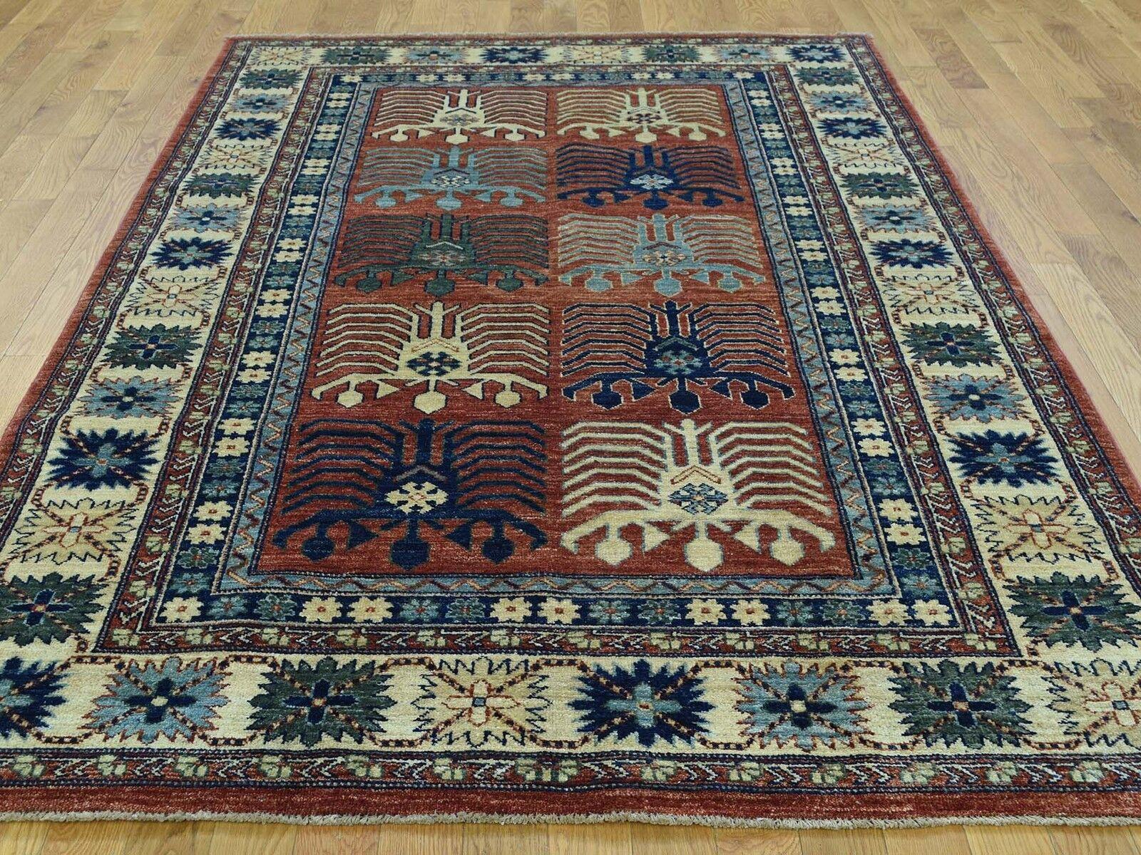 5 1 X8 2 Hand Knotted Turkoman Ersari 100 Percent Wool Oriental