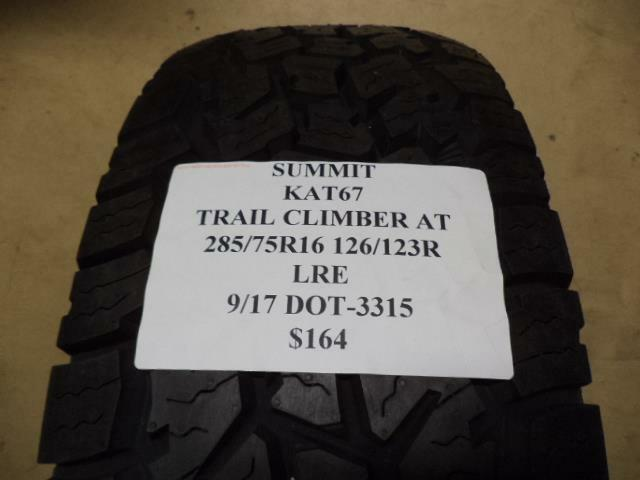 4 Summit Trail Climber At Lt285x75r16 Tires 75r 16 2857516 Ebay