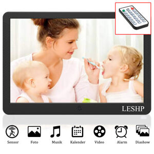 "10"" LED Digitaler Foto Bilderrahmen MP3 Movie Video Player Wecker nv"