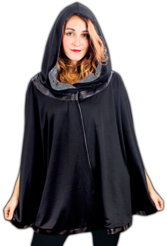 Unisex Adult Epic Space Battle Star Wars Galaxy Reversible Hooded Poncho Cape