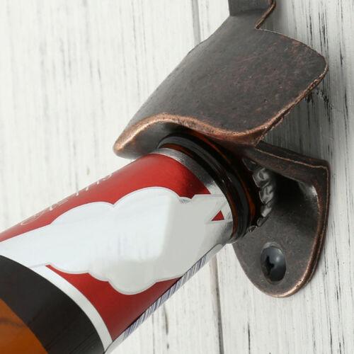 10x Bronze Wall Mounted Beer Wine Bottle Open Cap Bar Opener Bar Kitchen Tool