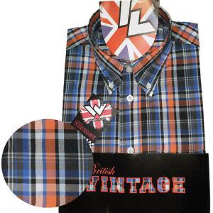 Warrior-UK-England-Button-Down-Shirt-Dekker-Shirt-Slim-Fit-SKINHEAD-MOD