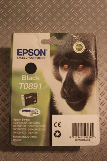 Original Epson T0891 Tintenpatrone black Stylus SX215 SX 215 MHD FEB 2017