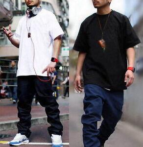 new concept d94cf c3b25 Dettagli su T-shirt da uomo Hip-Hop Rap Maglietta Abbigliamento street  Tinta Unita M-4XL