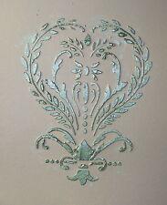 Stencil,Plaster Stencil, Bridgitte Heart Wall Stencil, Furniture Stencil
