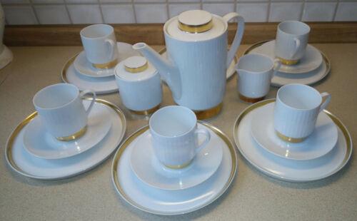 Melitta Hamburg Porzellan Kaffeeservice für 6 Personen 23-teilig 1960er Jahre
