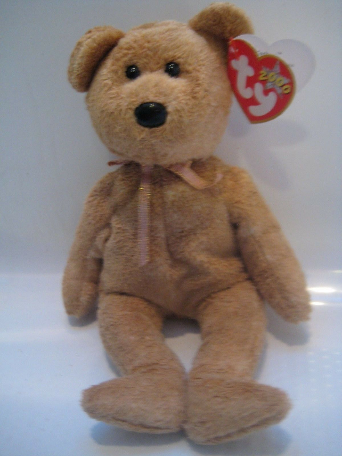 Collectible NWTs Ty Beanie Baby Cashew Bear 2000 Error PE Pellets New HTF NLA