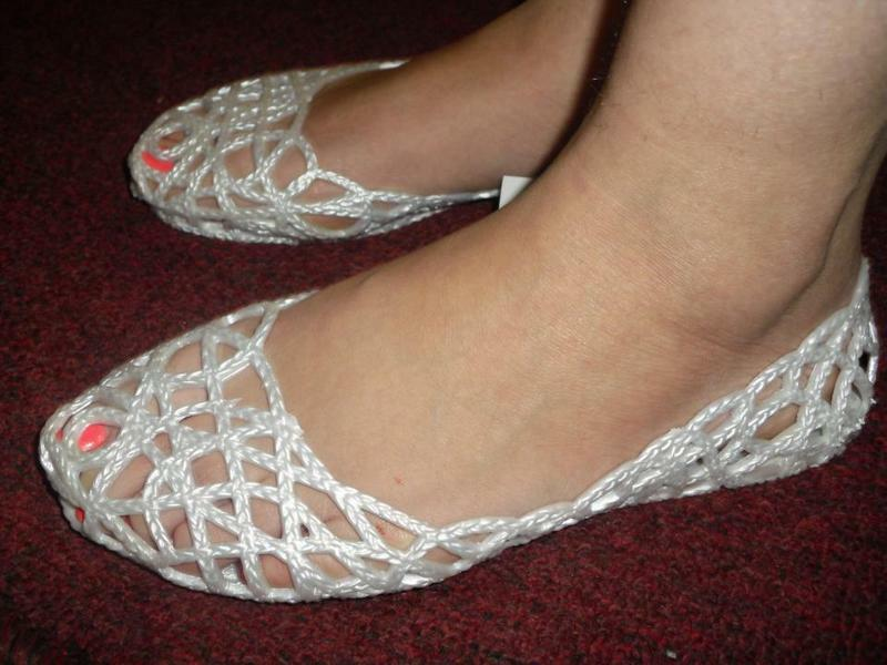 New ZigZag Jelly For Shoes For Jelly Woman, White. b0a87f