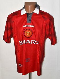 Manchester-United-1996-1997-1998-Calcio-Casa-maglietta-jersey-Umbro-Taglia-L-adulto