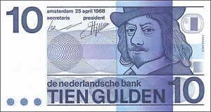 Niederlande-Netherlands-10-Gulden-1968-Pick-091b-1