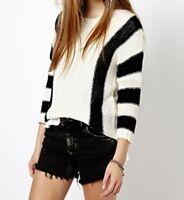 Pullover vero moda XS schwarz weiß 34 Strickpullover gestreift