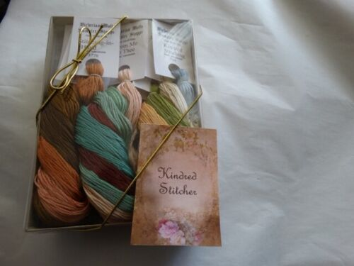 Kindred Stitcher Collection 20 yd skeins, gift boxed over dyed floss 12