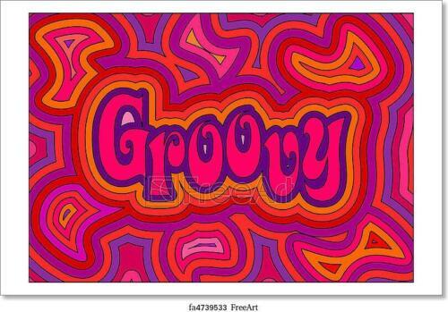 Wall Art Poster Groovy Art//Canvas Print Home Decor