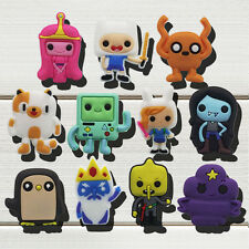 55pcs Adventure Time With Finn And Jack PVC Shoe Charms Accessories Kids Gift