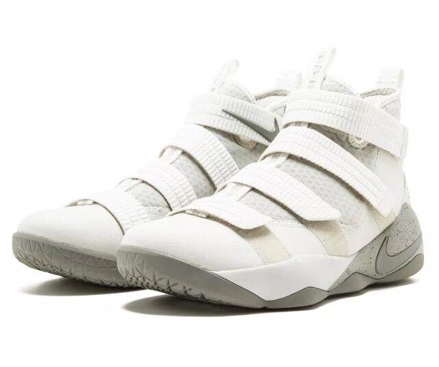 c8e6b9ca466 Nike Lebron Soldier XI SFG Mens 897646-005 Bone Stucco Basketball ...