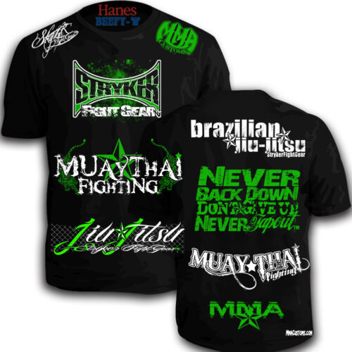 Stryker Sponsored Shorts Sleeve MMA ufc boxing new y T-Shirt W FREE Tapout decal