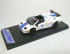 Lamborghini Diabolo Vt Us Course (blanc Avec Bleu Rayures)
