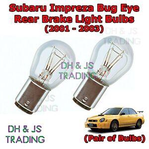 Image Is Loading Subaru Impreza Bug Eye Rear Brake Light Bulbs