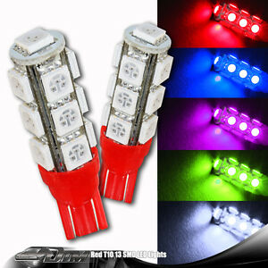 8 x Blue 6 LED 12V Replacement T10 Wedge Light Bulbs 194 2450 2652 2921 2825
