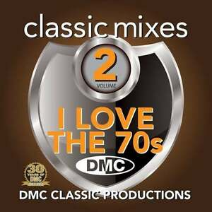 DMC-Classic-Mixes-I-Love-The-70s-Megamix-Vol-2-Mixed-Music-DJ-CD-Seventies-Music
