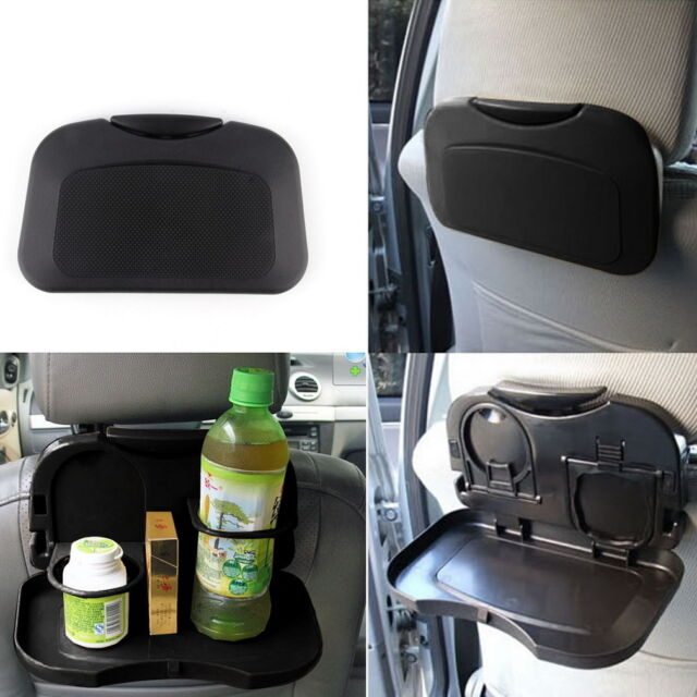 NEW Folding Auto Car Back Seat Table Drink Food Cup Tray Holder Stand Desk GA
