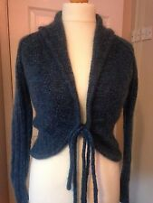 Gorgeous Monsoon Mohair Wool Mix Cardigan Ladies size 10 Blue Green