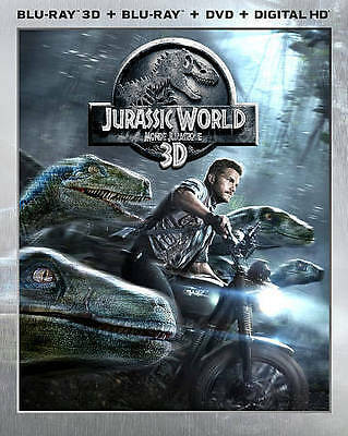 Jurassic World 3D ( 2D/3D Blu-ray/DVD/Digital ) with Slipcover