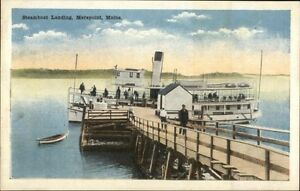 Merepoint-ME-Steamer-at-Landing-c1920-Postcard