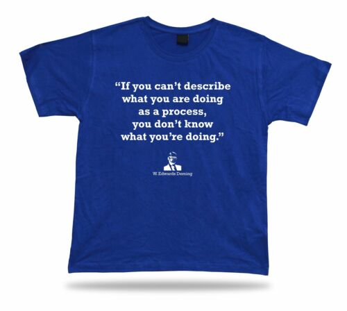 W Edwards Deming TSHIRT BEST TEE proverb APPARLE Famous Quote Gift Idea