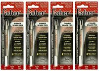 Four (4) Fisher Space Pen Spr Series Red Ink / Fine Point Refills Spr2f